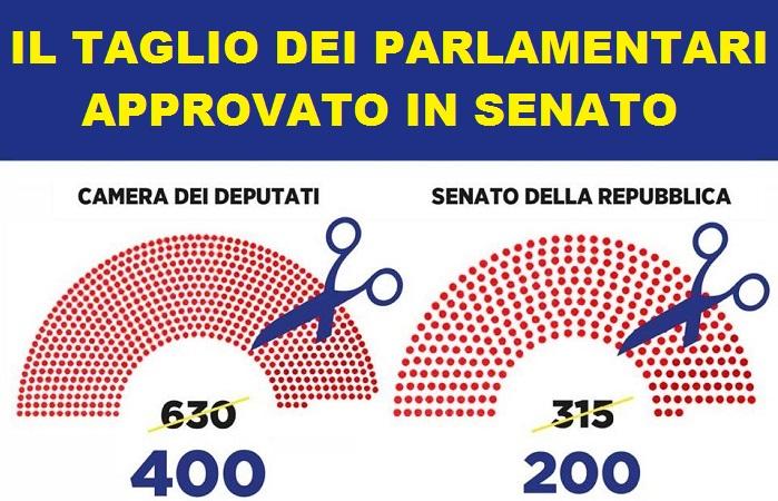 Taglio del numero di parlamentari: la riforma passa in Senato