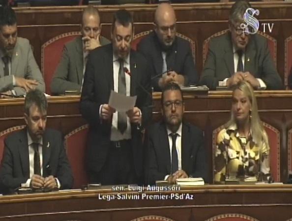 Fake onlus: intervento in aula del senatore Augussori
