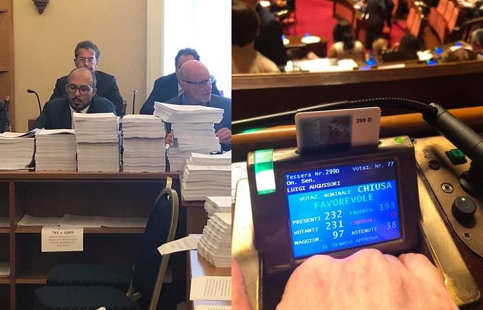 Educazione civica, commissione d'inchiesta su case famiglia e Decreto Sicurezza bis, Augussori: grande giornata in Senato