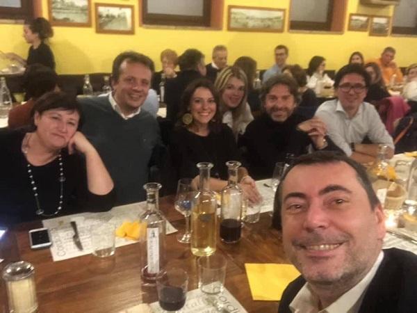 Augussori alla cena della Sezione Lega di Sant'Angelo Lodigiano
