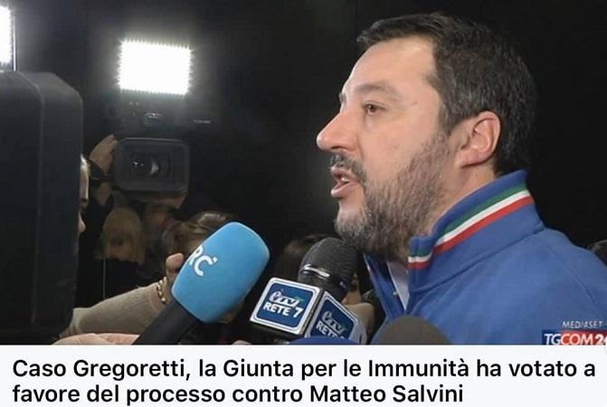 Giunta per le autorizzazioni: ok a processo a Salvini
