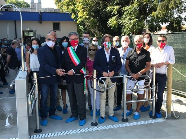 Inaugurazione piscina comunale Sant'Angelo Lodigiano, presente il senatore Augussori