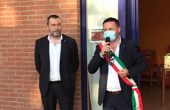 Inaugurazione centro diurno anziani a Tavazzano, presente il senatore Augussori
