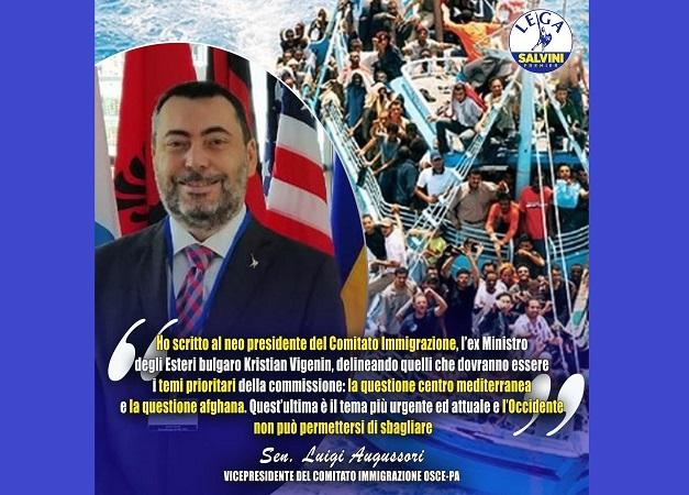 OSCE: lettera del senatore Augussori al presidente del Comitato Immigrazione