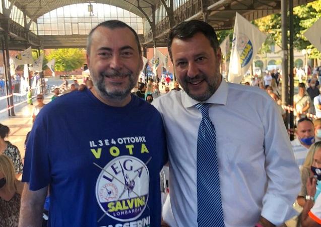 Bagno di folla per Matteo Salvini a Codogno